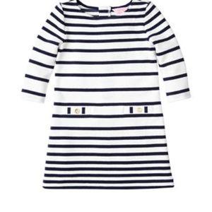 Little Charlene Shift Dress Navy/white striped
